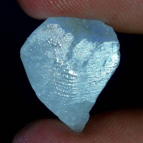 100/% Natural Power Blue Fire Rainbow Moonstone Rough Slab Gemstone Material SD12