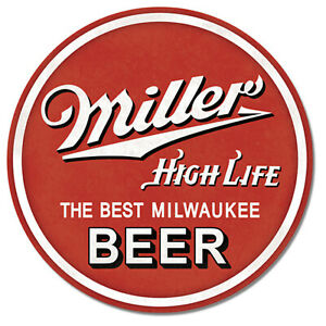 Miller-High-Life-Beer-Round-Metal-Sign-12-x-12-inch