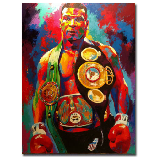 MIKE TYSON BOXING LEGEND SILK POSTER HEAVYWEIGHT BOXER 13X18 24X32 INCH