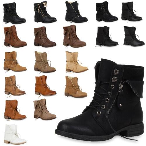 Damen Worker Boots Stiefeletten für Herbst /& Winter 890464 Top