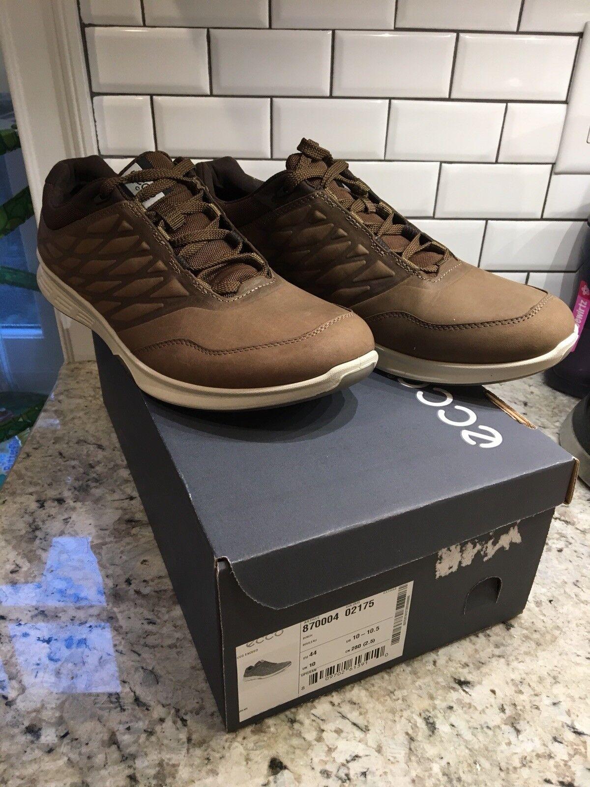 New!  ECCO Exceed Trainer Shoe. EU 44. US 10-10.5.  Birch Brown Yak Pelle.