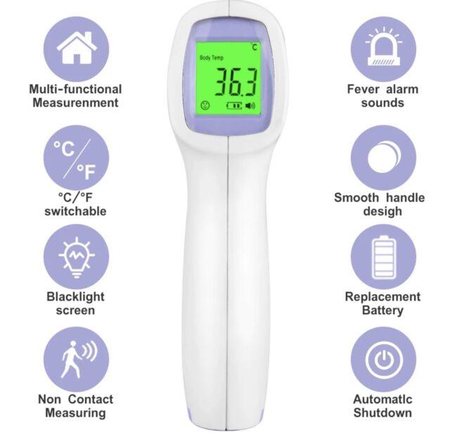 Digital Infrared Thermometer Non-Contact IR Temperature Measurement Forehead Gun