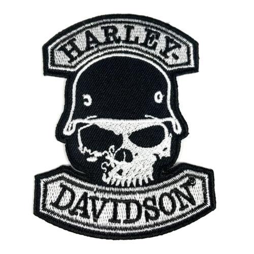 Harley Davidson Rocker Embroidered Patch Biker Willie G Skull Leather Jacket 1PC