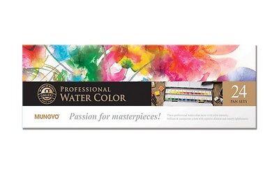 Watercolor Paint Mungyo Professional Pans Set 24 Color MWPH-24C