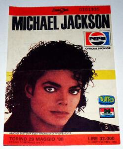 """MICHAEL JACKSON Rare billet Collector ticket concert ITALY Torino 29/05/1988 ! - France - Commentaires du vendeur : """"Voir description svp / Please read details"""" - France"""