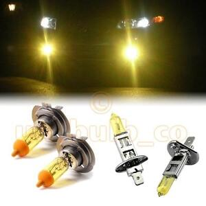 YELLOW-XENON-LOW-HIGH-BEAM-BULBS-FOR-VW-Polo-MODELS-H7H1