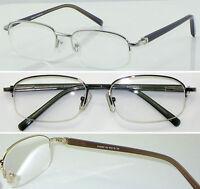 HM04 Superb Quality Metal Semi Rimless Reading glasses/Spring Hinges Super Value