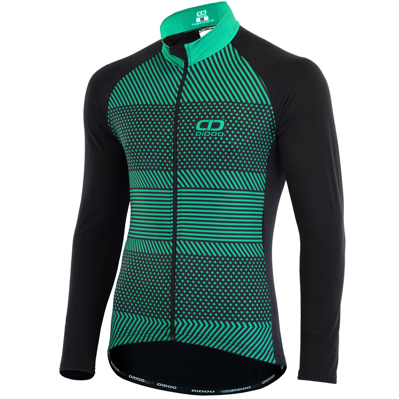 Didoo  Pro Men Long Sleeve Cycling Jersey Thermal Full-Length zipper