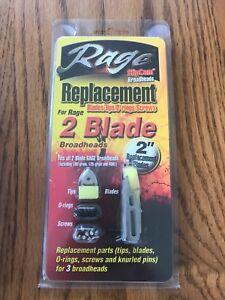 NEW-Rage-2-Blade-SlipCam-Broadheads-Replacement-Blades-Archery-Hunting