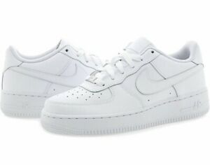 Details about Nib Big Kids Size 3.5 NIKE AIR FORCE 1 Low Top Basketball Shoes White 314192 117