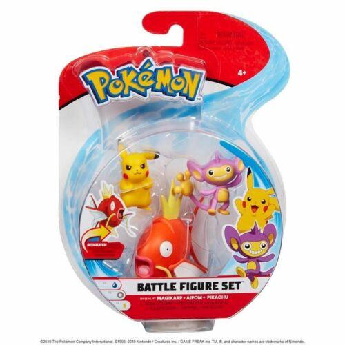 Pokemon ~ Battle Figure Set 3 Pack ~ Magikarp Pikachu ~ Character Aipom