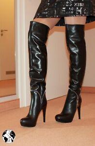 Gr-37-statt-399-neu-169-99-Uberknie-High-Heels-Leder-Absatz-Stiefel