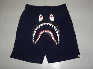 7d0bed7b7794 Image is loading 17151-bape-shark-sweat-shorts-pocket-camo-navy-