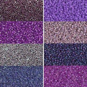 Miyuki-Delica-Beads-rund-11-0-1-6mm-lila-amethyst-flieder-aubergin-a-5-Gramm