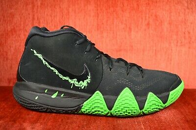 best value 1ce1b 41994 WORN TWICE Nike Kyrie 4 Black Halloween Green Rage Size 11 943806-012 | eBay
