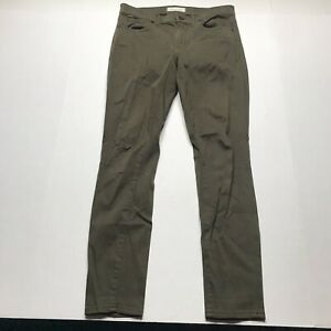 Madewell-Dark-Olive-Green-Skinny-Skinny-Pants-Size-27-a727