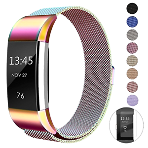 Metal Bands Compatible Fitbit Charge 2 Replacement Band Milanese Stainless Steel