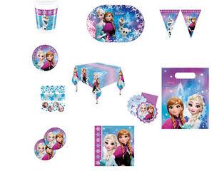 Kinder-Geburtstag-Motto-Party-Frozen-Pappteller-Becher-Servietten-Einladungen