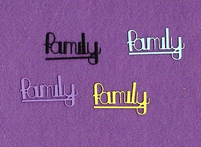 FAMILY  die cuts scrapbook cards