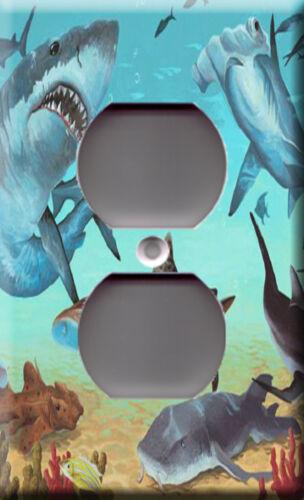 Light Switch Plate Cover Shark family Fish animal dangerous tropical decor