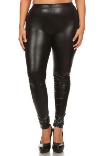 Women/'s Leggings Faux Leather Lined Leggings