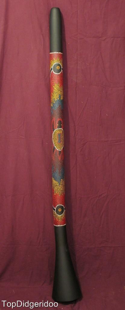 59  \ 150cm PVC Didgeridoo,Dot-Painting,Stark Sound,Leicht,Einfach zu Spielen