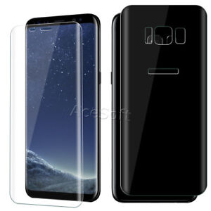 low priced 972ab 65243 Details about Ultra Clear Front Back Tempered Glass Screen Protector f  Samsung Galaxy S8 G950U
