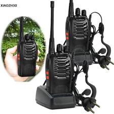 2x Baofeng BF-888S Walkie Talkie-Set Funkgerät 16 Kanäle 6km Hand-Funkgerät 50Ω