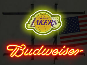 """New Los Angeles Lakers Beer Neon Sign 17""""X14"""" Fast Ship"""