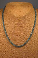 Zirkon Kette Collier 76,00 Ct. Blau Natur Schmuck Edelstein Heilstein Halskette