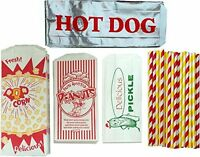 Outside The Box Papers Ultimate Carnival Party Pack - 24 Foil Hot Dog Bags 24 Pr on sale