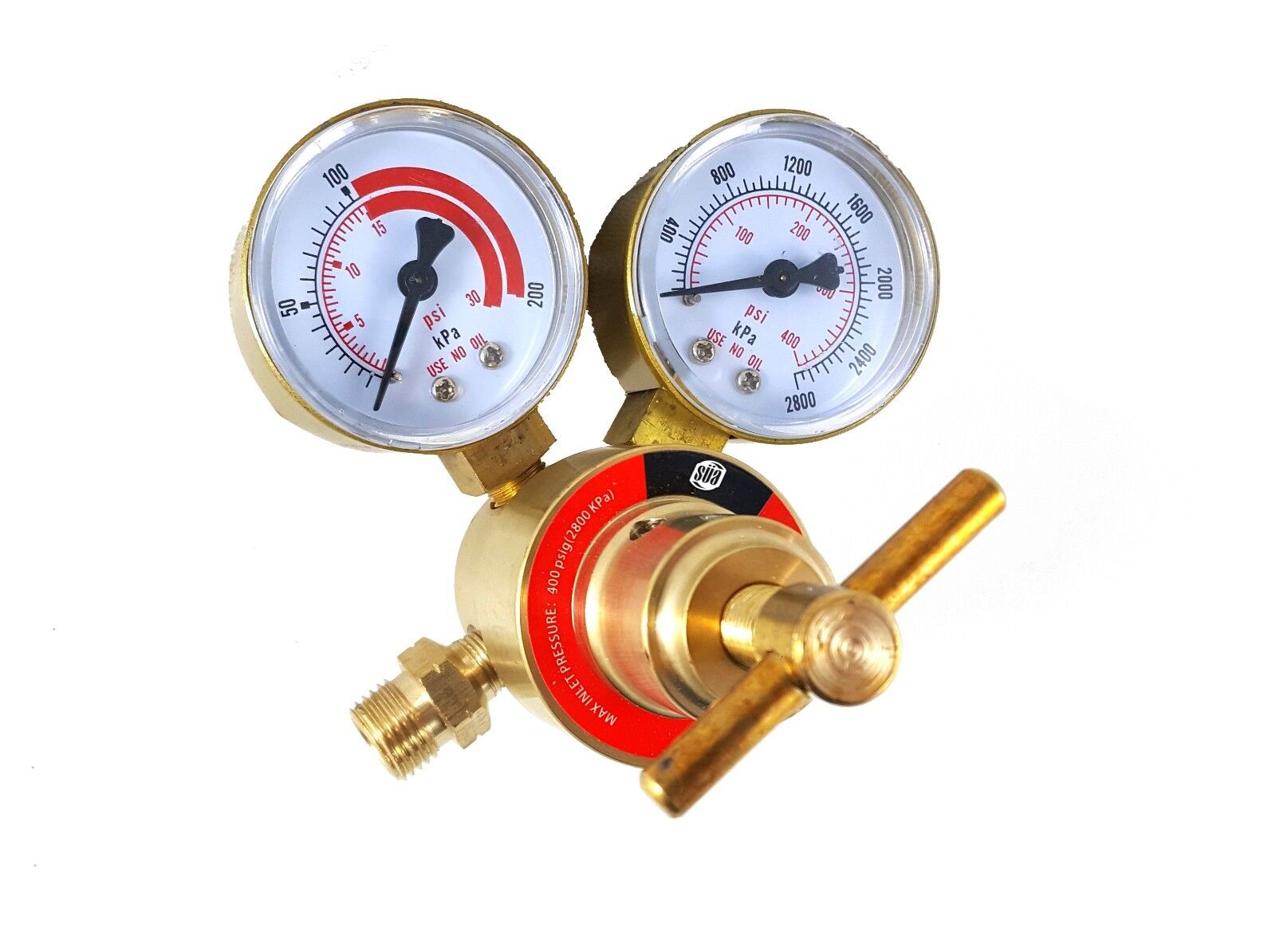 LDB series CGA-540 S/ÜA Oxygen Regulator Welding Gas Gauges Rear Connector