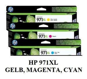 Original HP 971XL CN627AE CN626AE CN628AE Tintenpatronen, GELB, MAGENTA, CYAN