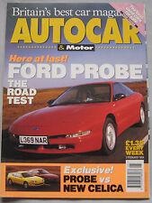 AUTOCAR magazine 2/2/1994 featuring Ford Probe, Toyota Celica GT, Chrysler, Audi