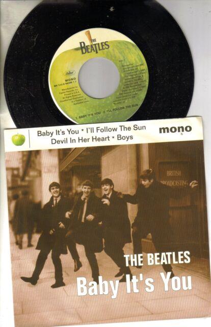 Beatles Baby It's You/Follow Sun/Devil/Boys w/PS Cap Ep