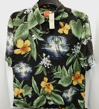 $110 Tommy Bahama Mens ISLAND STATE OF MIND Hawaiian Silk Shirt Size Medium M