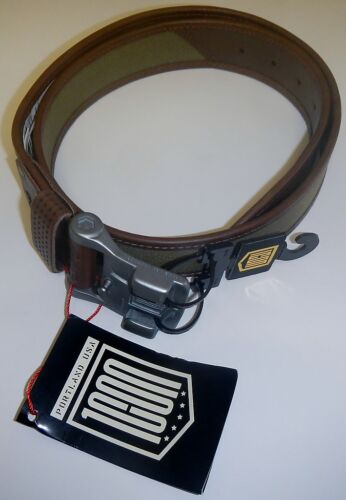 Icon 1000 Mens Elsinore Leather /& Cotton Belt with Cast Aluminum Buckle