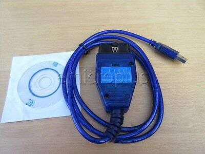 KKL VAG 409.1 USB Cable ECU Scan Diagnostic Interface Alfa Fiat PC win 10/8/7