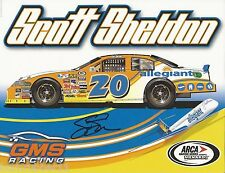 "SIGNED SCOTT SHELDON ""ALLEGIANT GMS RACING"" #20 NON NASCAR ARCA SERIES POSTCARD"