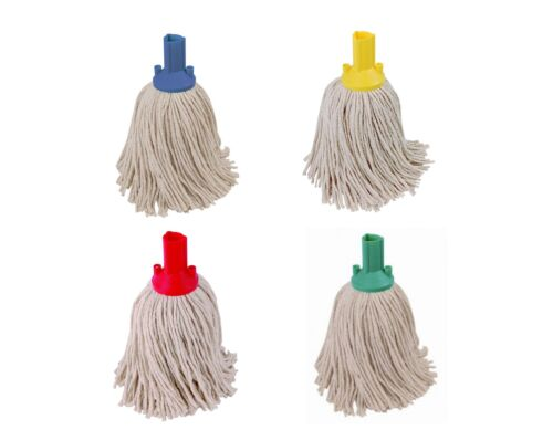 Socket Mop Head Red Green Blue Yellow Floor Cleaning Colour Coded Pack of 1 5 10