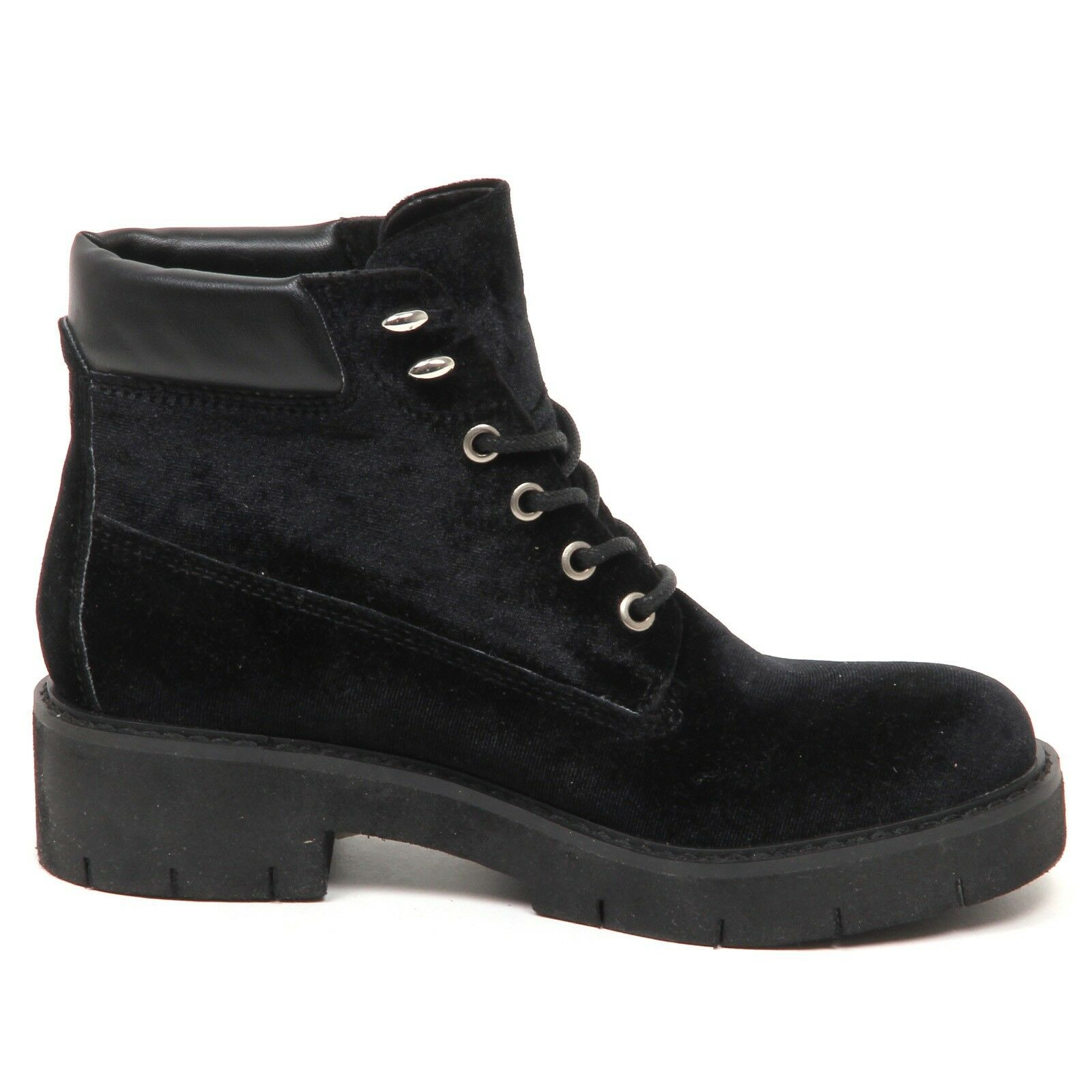 E0178 (without Box) scarponcino mujer Velvet Windsor Smith Comet negro negro negro zapatos Woman 335938