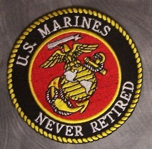 US Marine Corps Retired Embroidered Patch