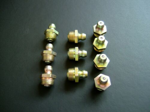 - UK Made pack of 10 1//8 BSP Grease Nipple Fitting 1//8 GAS Free UK post