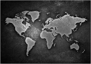 Vintage world map box canvas art print black white all sizes image is loading vintage world map box canvas art print black gumiabroncs Choice Image
