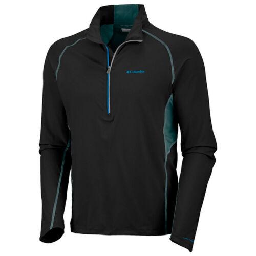 "New Mens Columbia /""Solar Polar/"" 1//2 Zip Omni-Freeze T-Shirt Polo Top Tee"