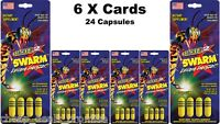 Stacker 2 Swarm 4ct Extreme Energizer Dietary Supple (lot 6x Cards) 24 Capsules