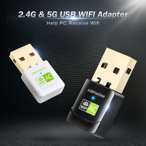 USB WiFi Adapter Network Card USB Ethernet 600Mbps 5Ghz Wi-Fi Adapter WiFi Receiver PC Antenna WiFi USB Wi Fi Adapter Free Driver
