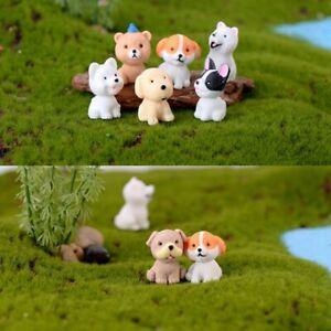 Mini-Dog-Fairy-Garden-Figurines-Miniature-Cake-Decor-Resin-Crafts-Sculpture-1PC