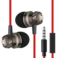 3.5 mm Earphones Metal Stereo Headphones Super Bass Headset Earbuds With Mic