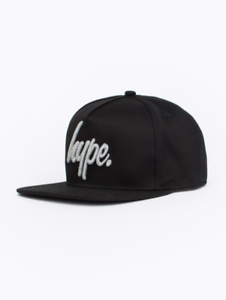 ae841689501 Image is loading Hype-Reflective-Script-Snapback-Cap-Hat-Black